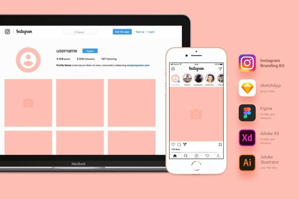 37 instagram mockup psd free template updated 2020