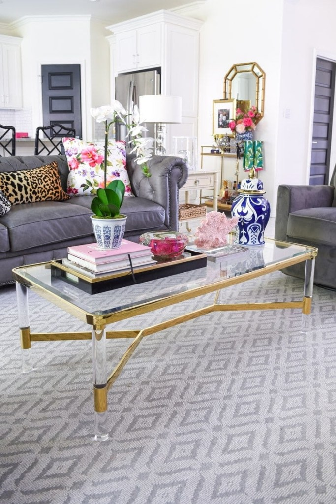 5 chic glam coffee table decor ideas monica wants it