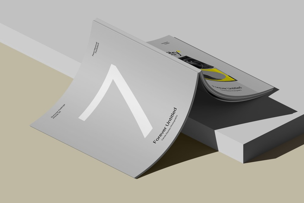 a4 cover magazine mockup with block isometric