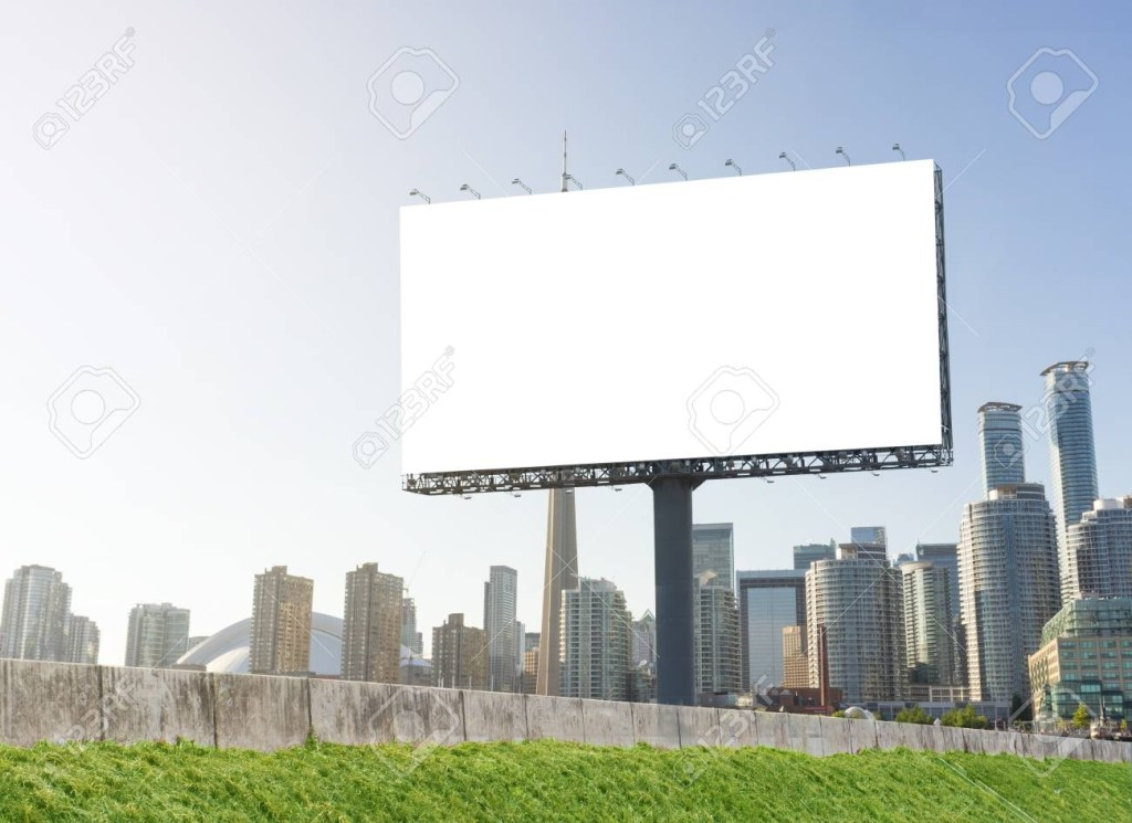 advertising concept blank template for outdoor advertising