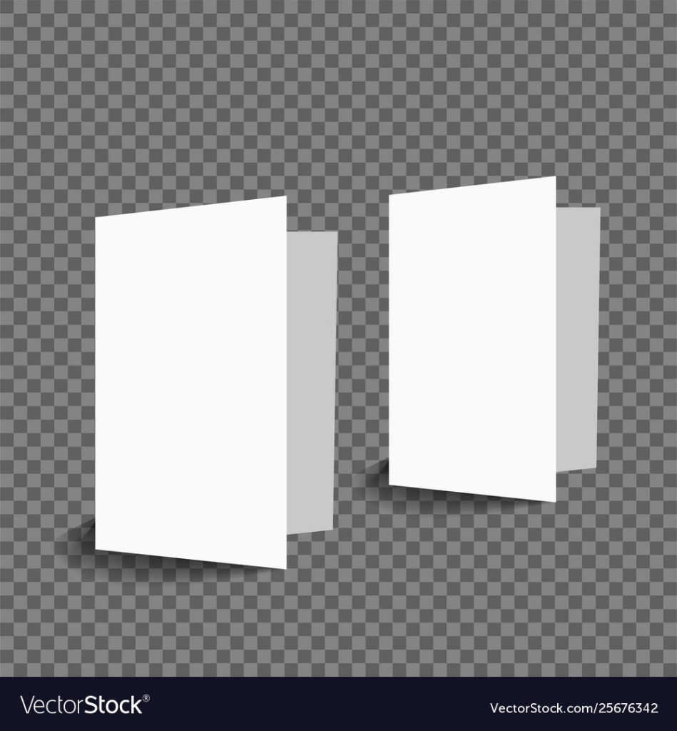 blank two greeting card mockup royalty free vector image
