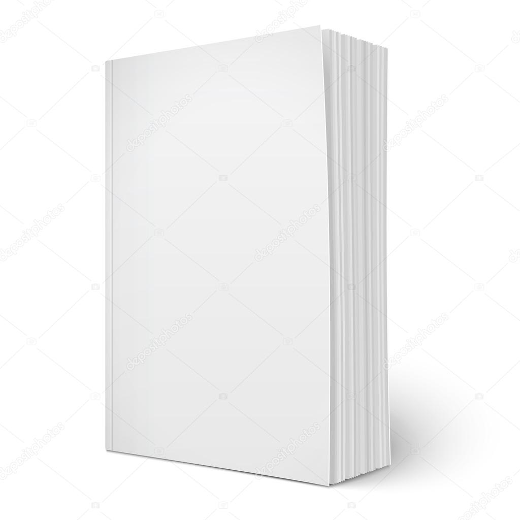 blank vertical softcover book template with pages 57598409