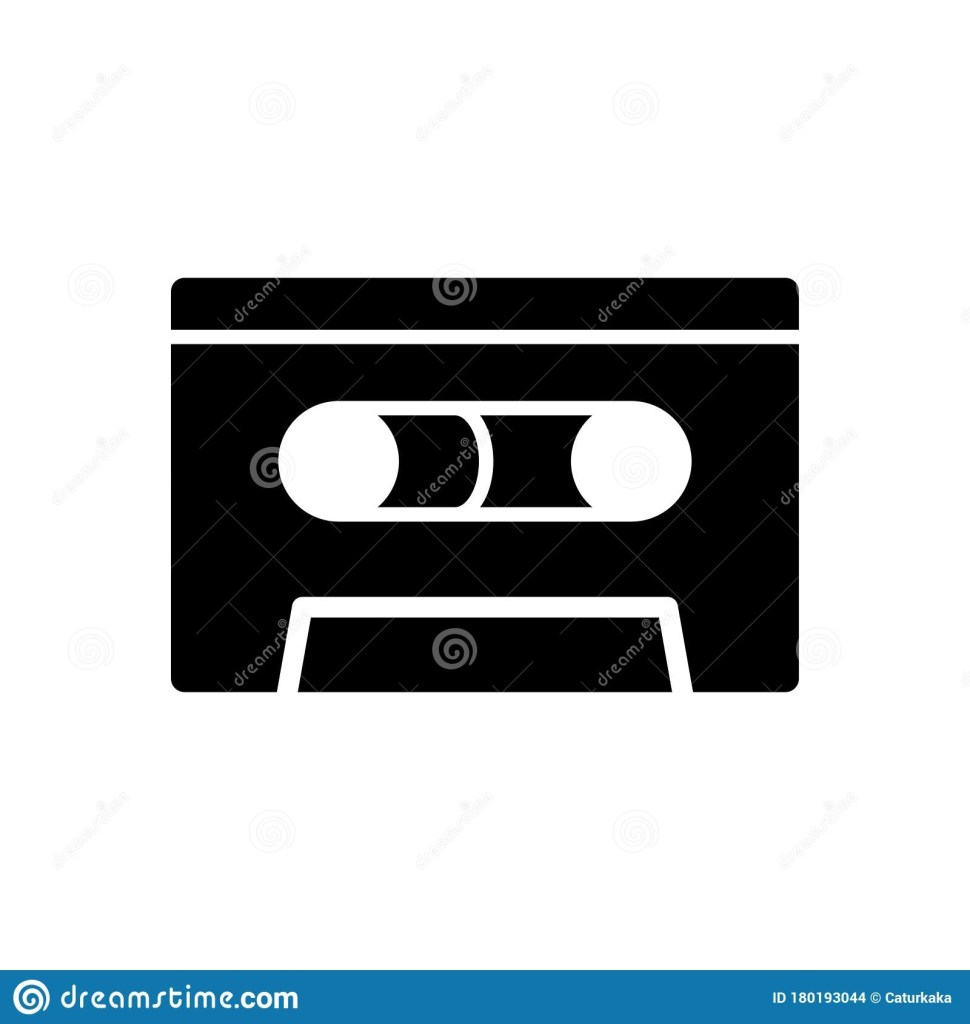 cassette icon flat vector template design trendy stock