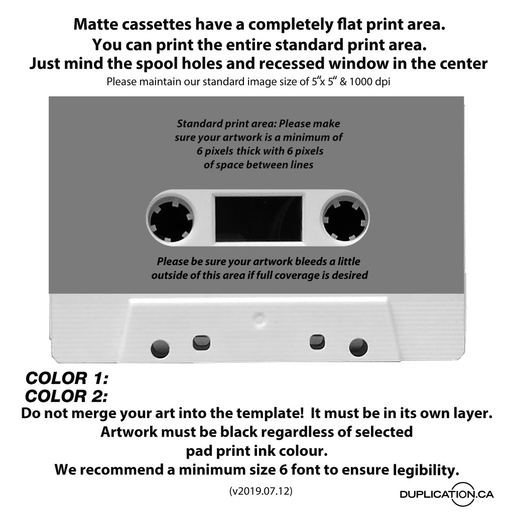 cassette tape cover template photoshop