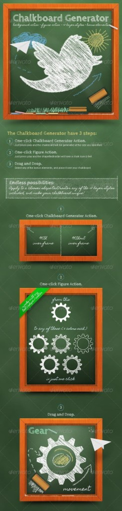 chalk and chalkboard photoshop styles and actions psddude