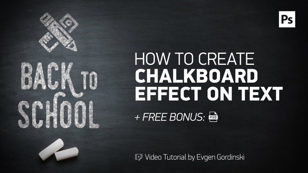 chalkboard effect on text free psd photoshop tutorial