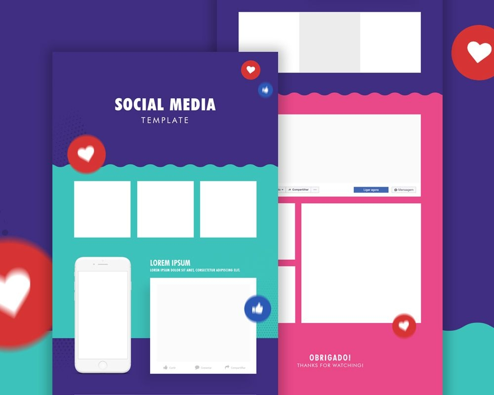 download social media template psd here is a mockup which