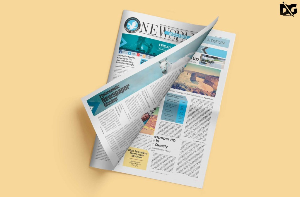 free broad sheet newspaper psd mockup free psd mockup