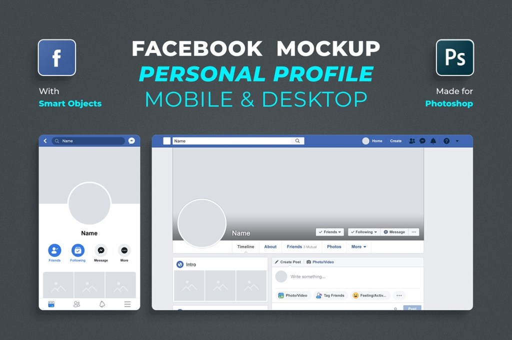 free facebook profile mockup 2019 free mockups other