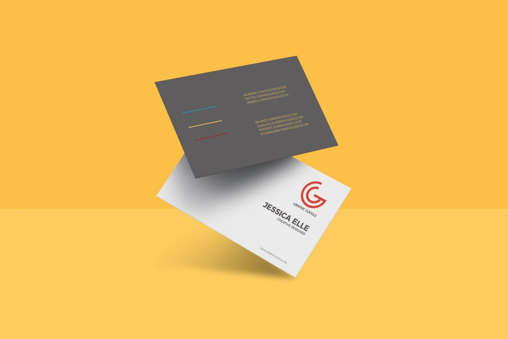 free floating business card mockup psd 657 mb graphic