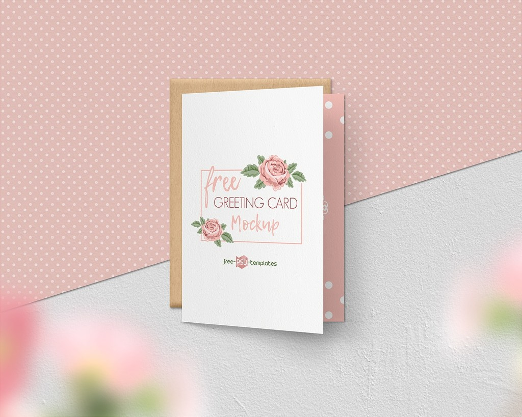 free greeting card mockup set free mockup