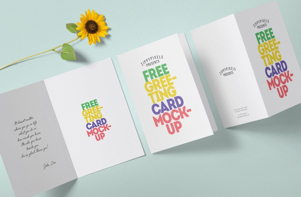 free greeting card mockup zippypixels free greeting