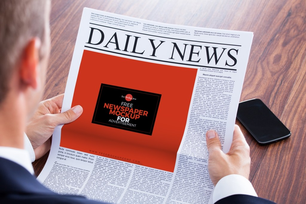 free newspaper mock up for advertisementfree mockup zone
