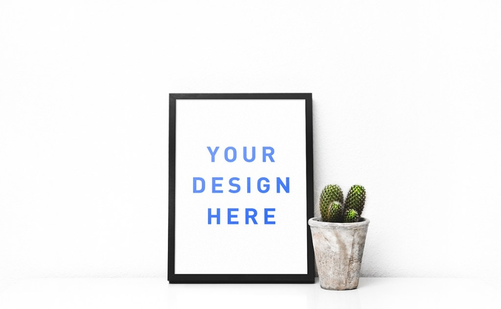 free poster frame mockup on behance