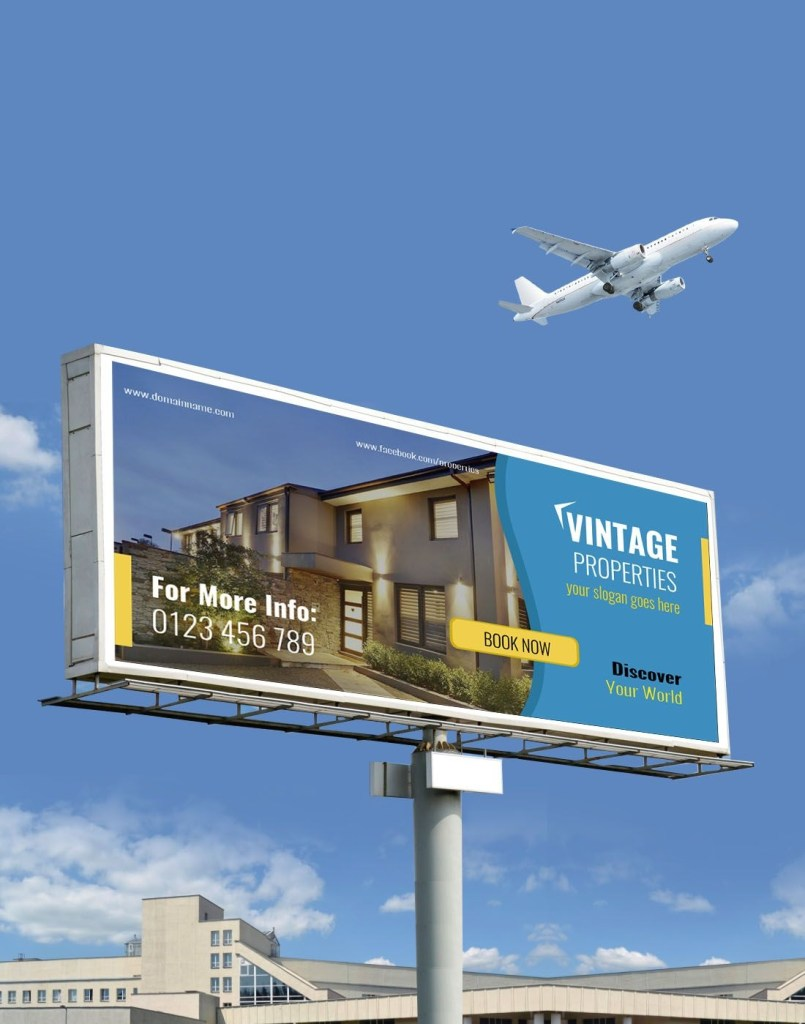 free property billboard template free property real