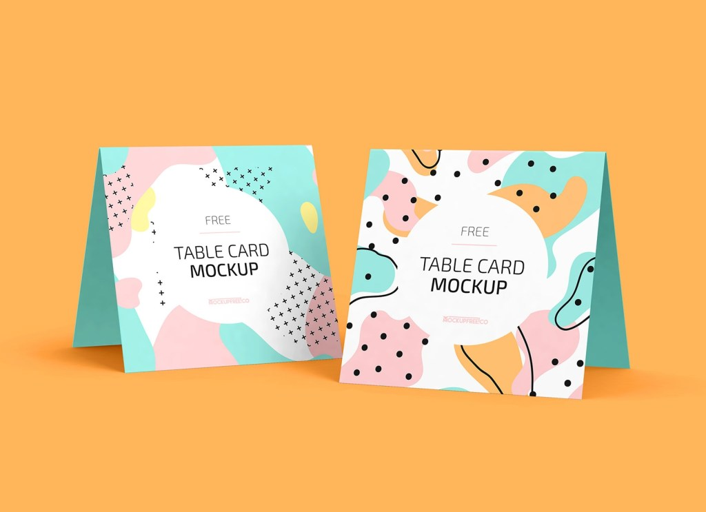 free square greeting table card mockup psd set good mockups