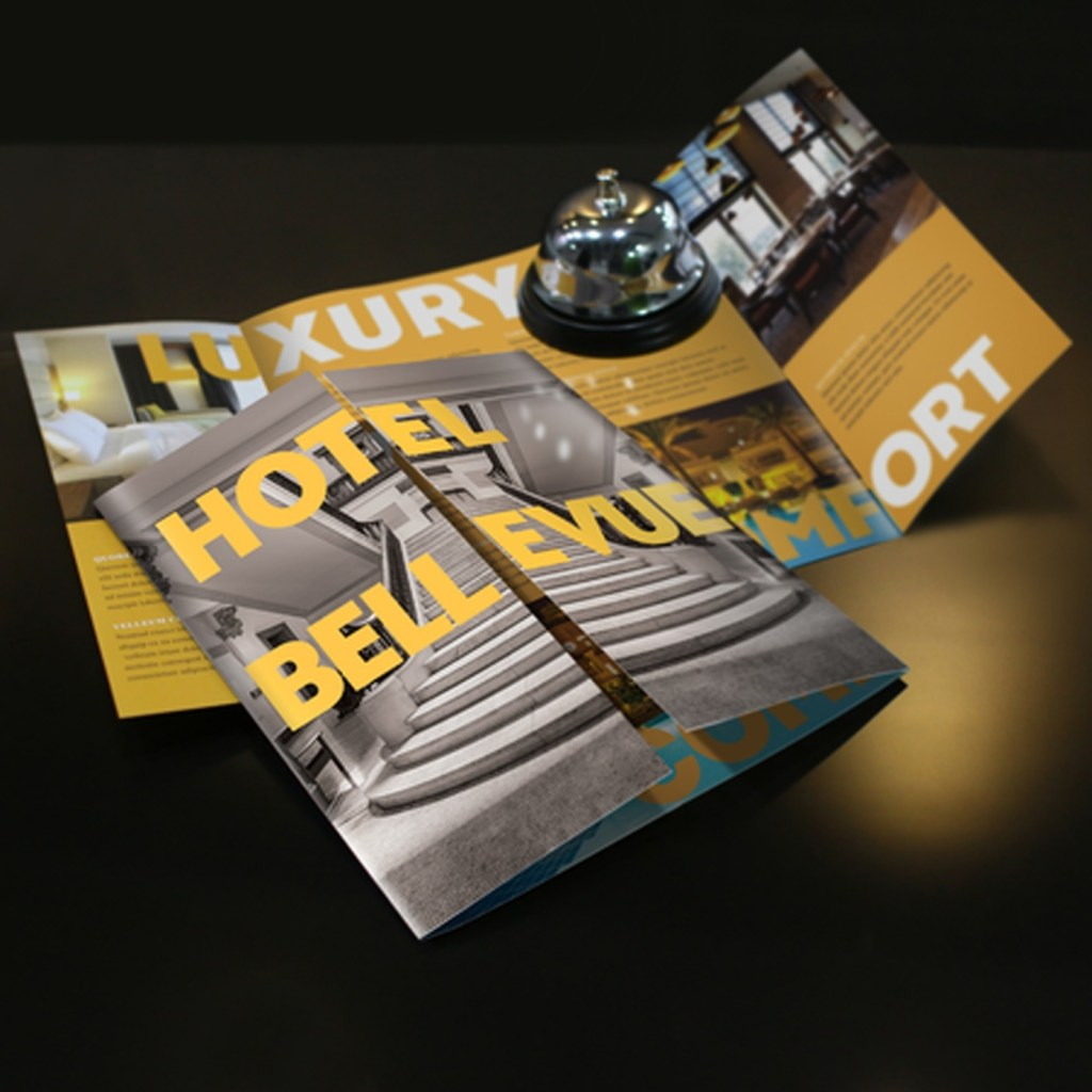 gate fold brochure printing gloss matte uncoated uprinting