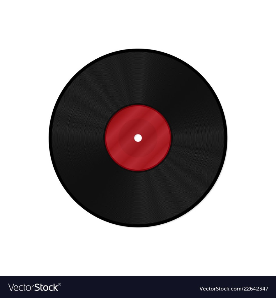 gramophone vinyl lp record template royalty free vector