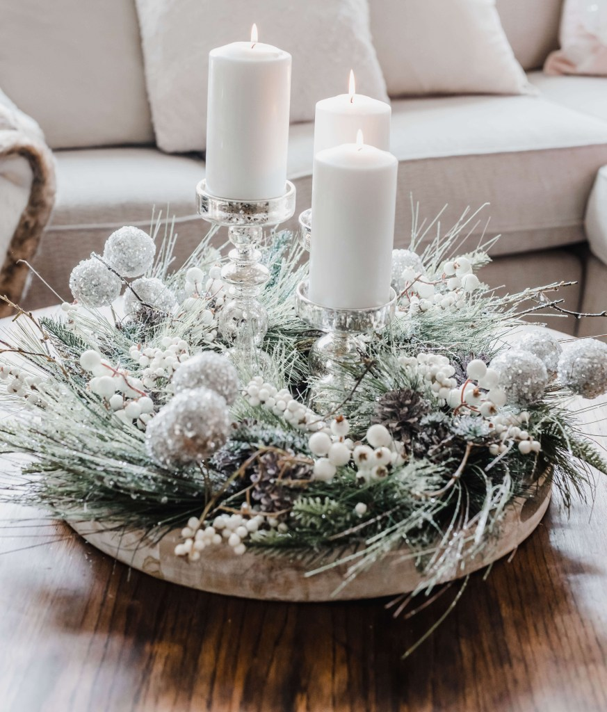 how to decorate a coffee table for christmas buffies home