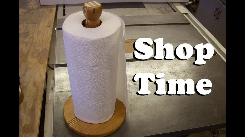 how to make a paper towel holder