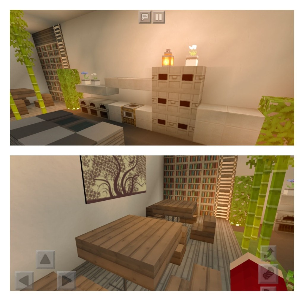 kitchen with linked dining room minecraft with images