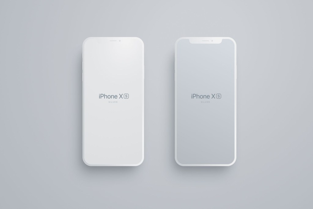 matte iphone 8 x xs mockup free figma download on