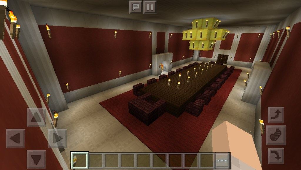 my mansion minecraft main dining hall minecraft