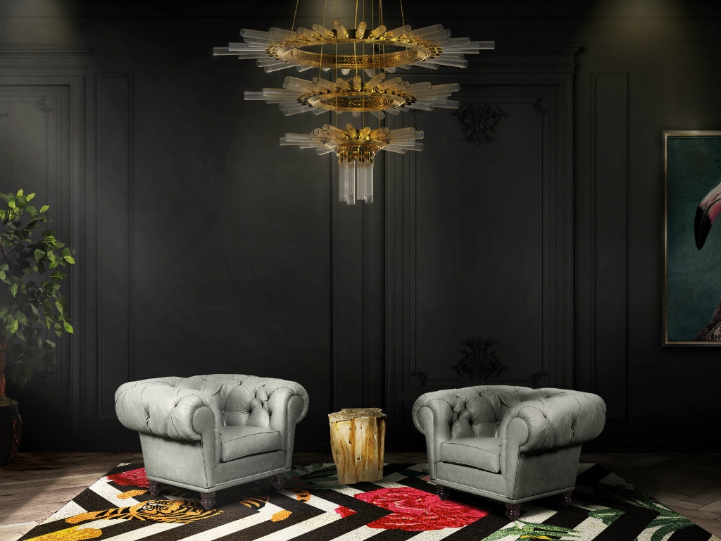 mysterious and sophisticated dark living room design