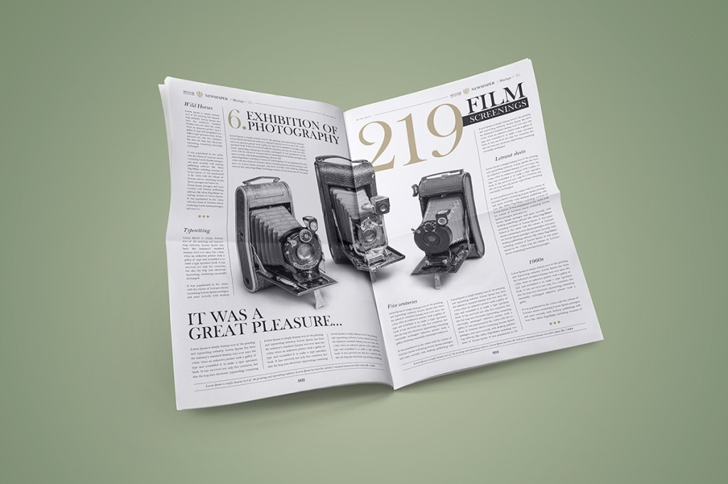 newspaper mock up set on behance
