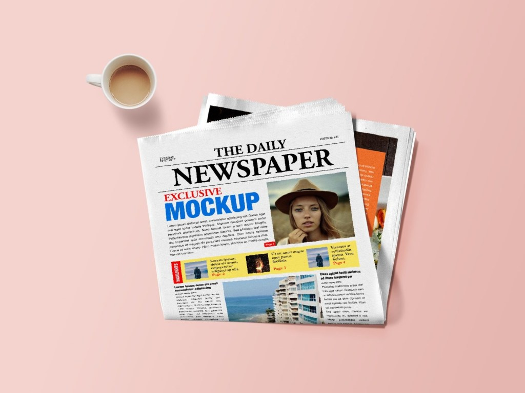 newspaper mockup psd best free mockups