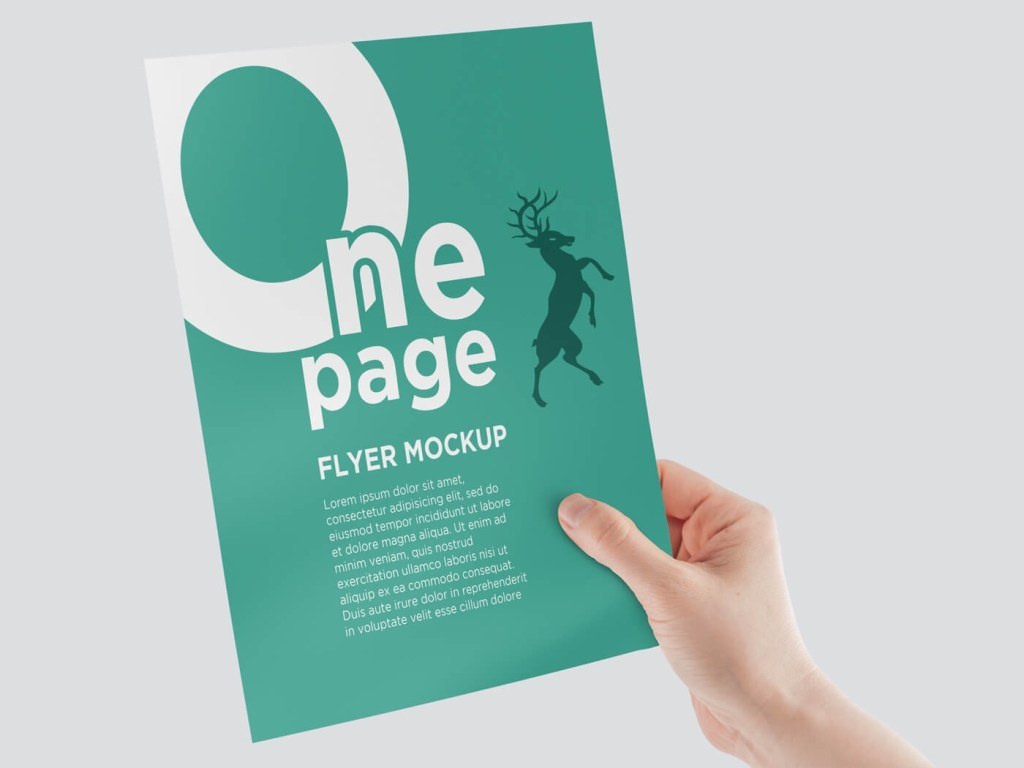 one page flyer mockup on vectogravic design
