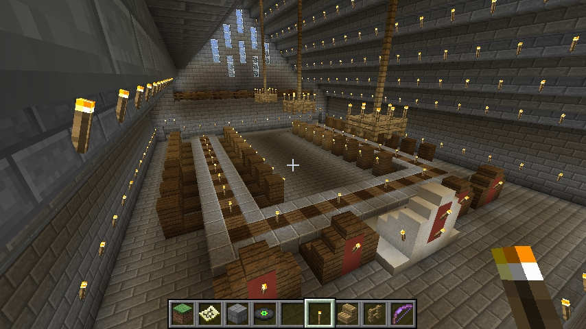 sky castle 4 the royal dining room minecraft