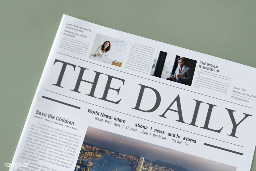 the daily news newspaper mockup free image rawpixel