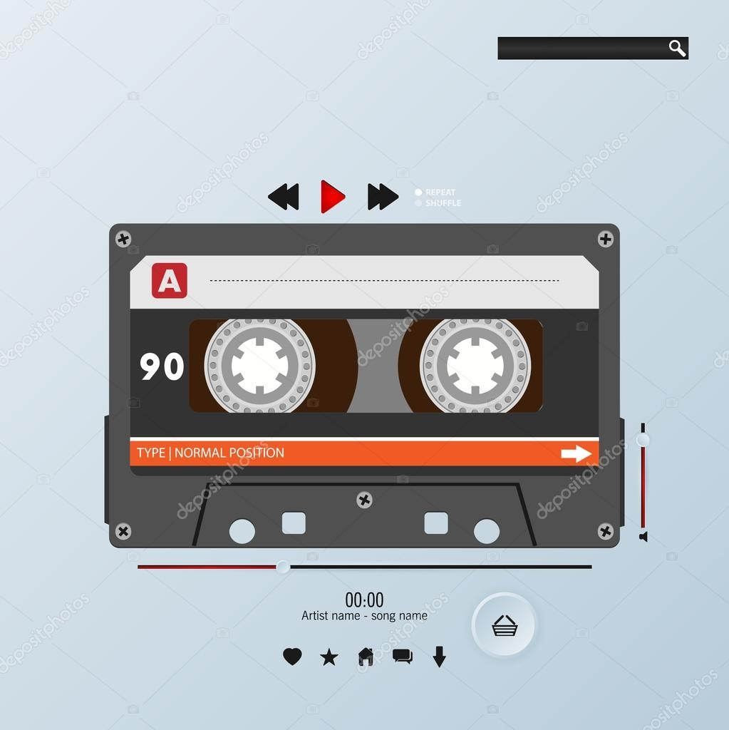 vector cassette in envelope music player template 46023305