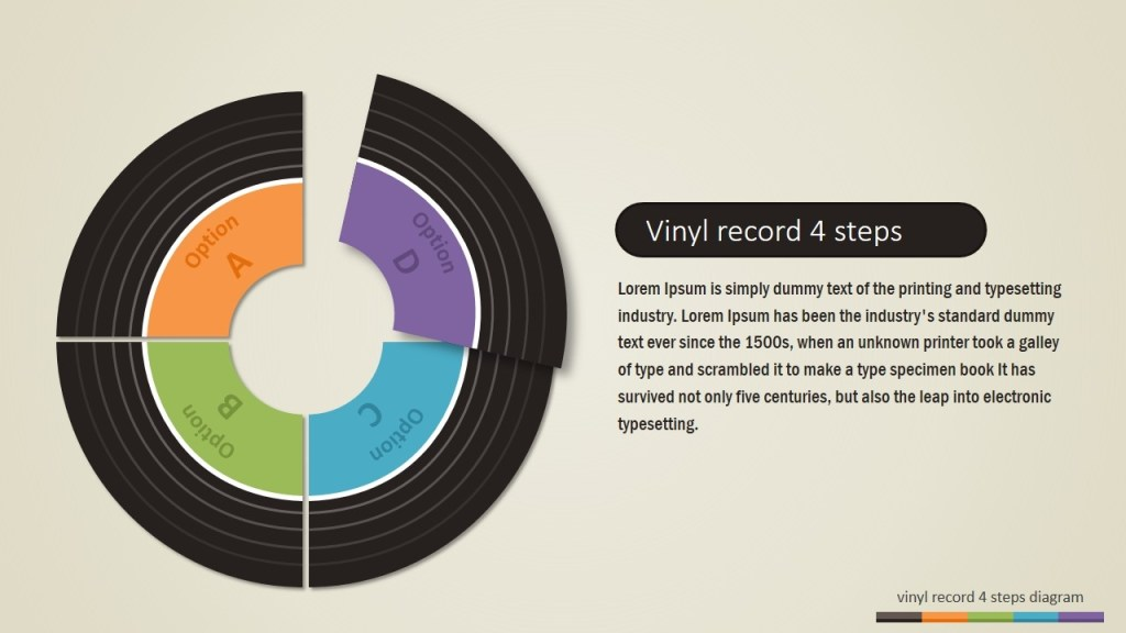 vinyl record powerpoint template slidemodel