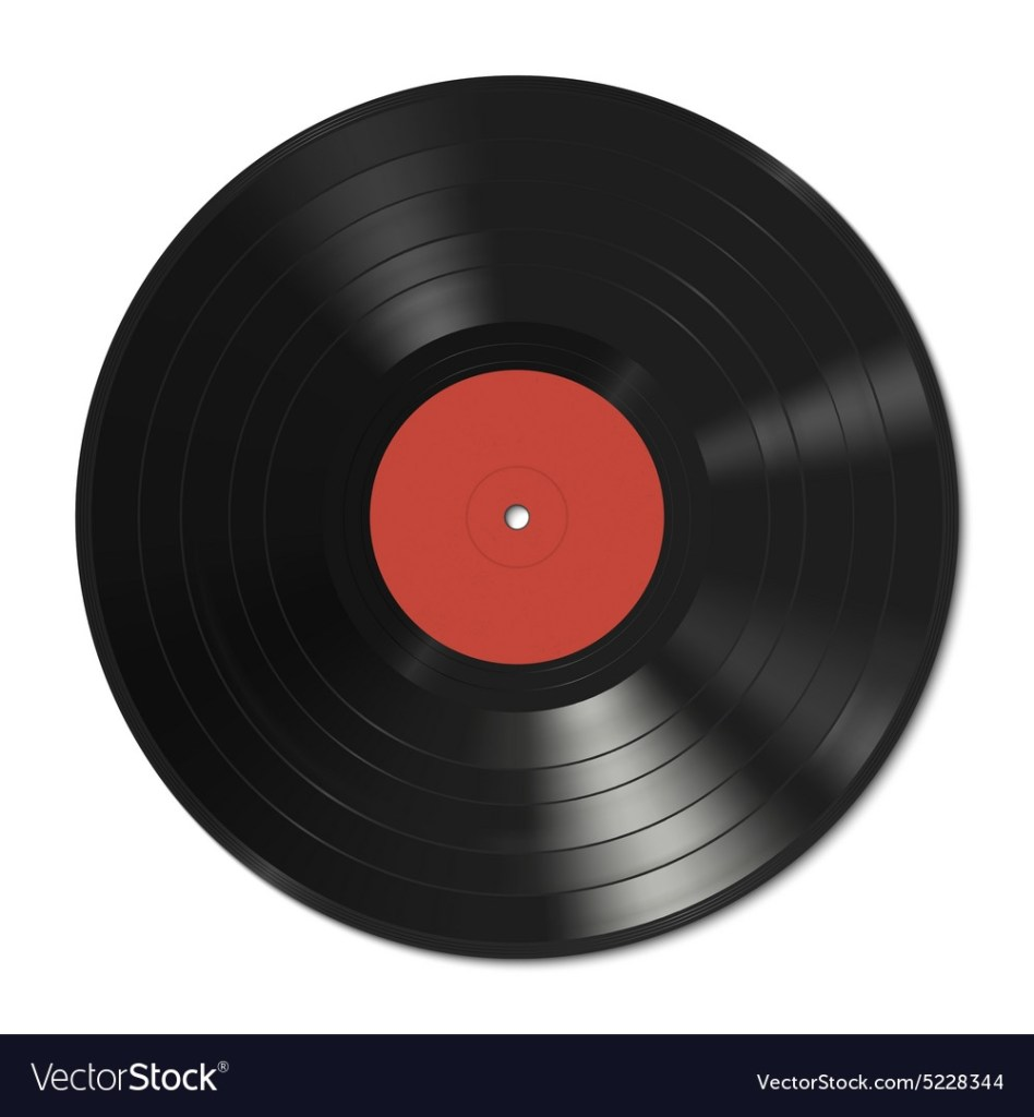 vinyl record template royalty free vector image