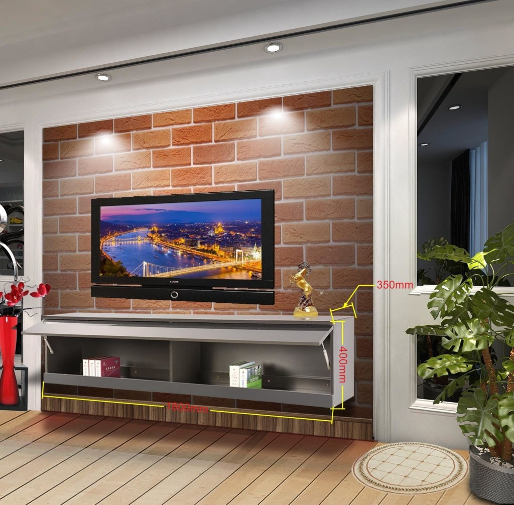wall mounted tv cabinet entertainment unit high gloss