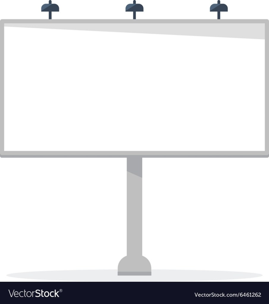 white blank billboard template royalty free vector image