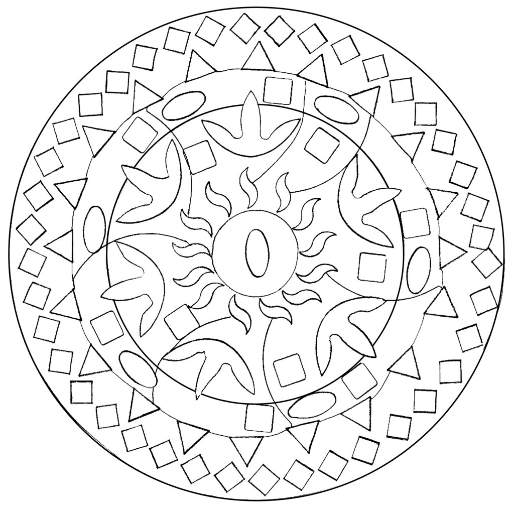 Abstract Peacock Coloring Pages