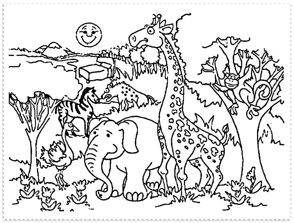 Baby Zoo Animals Coloring Pages
