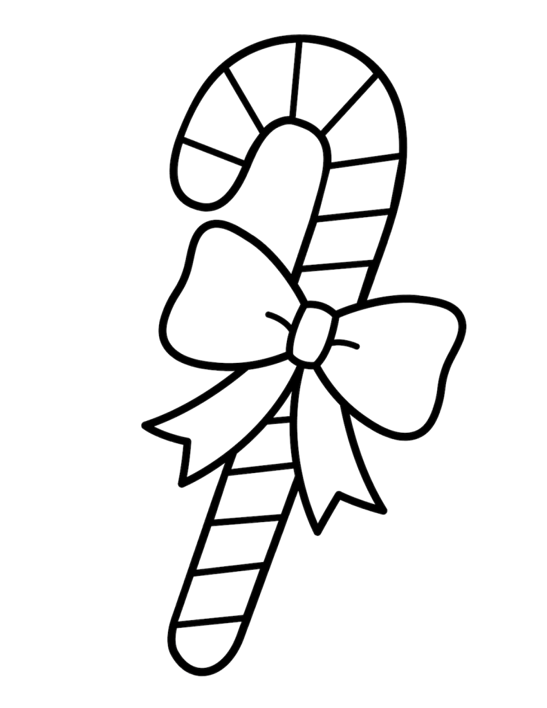 Candy Cane Coloring Image