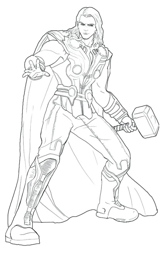 Coloring Pages Thor