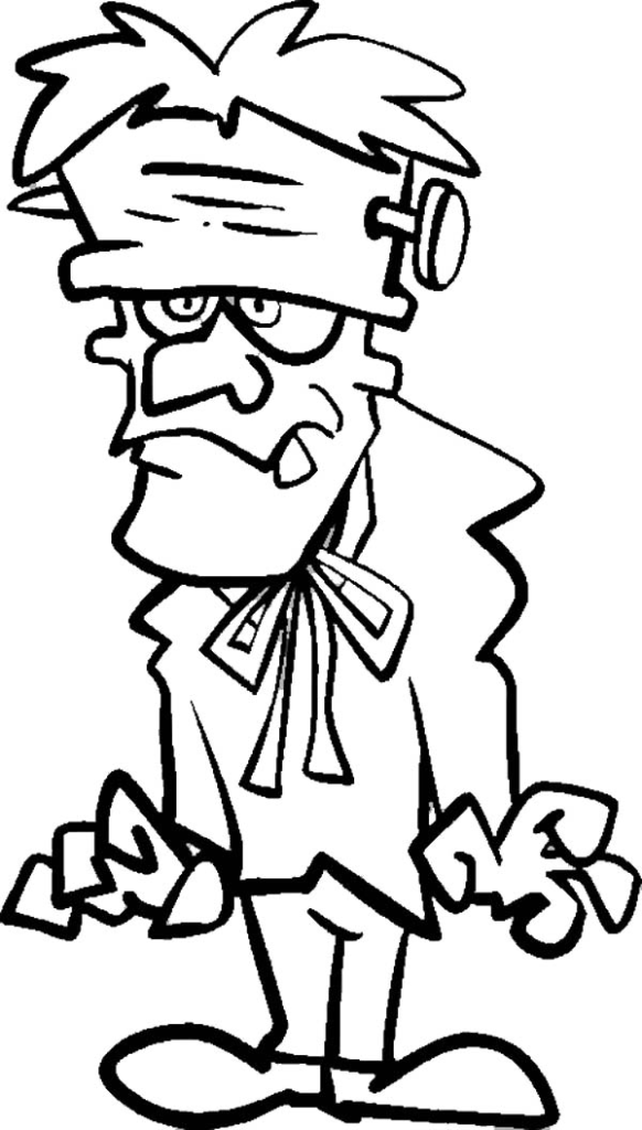 Frankenstein Coloring Pages Free Download