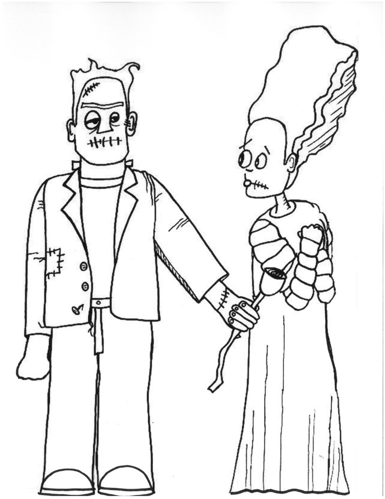 Free Full Size Frankenstein Coloring Pages