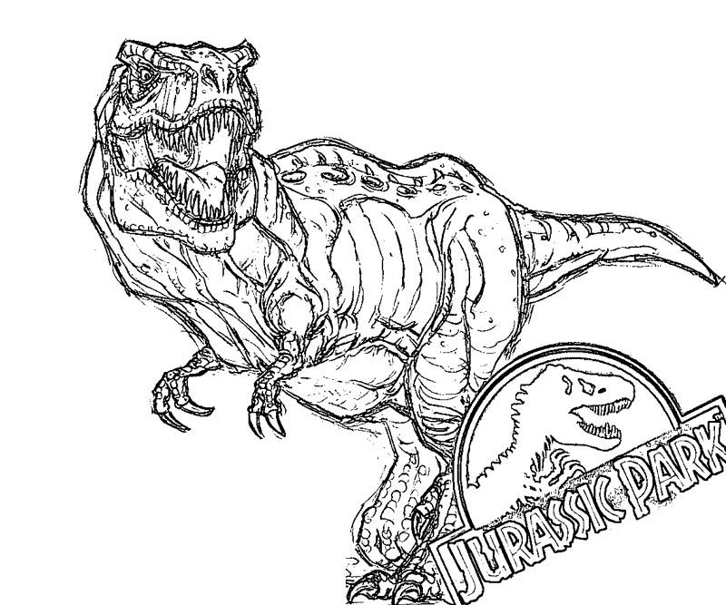 Jurassic World Coloring Pages Collection Trex