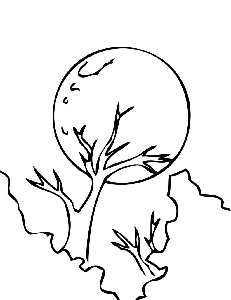 Sun And Moon Coloring Pages For Adults