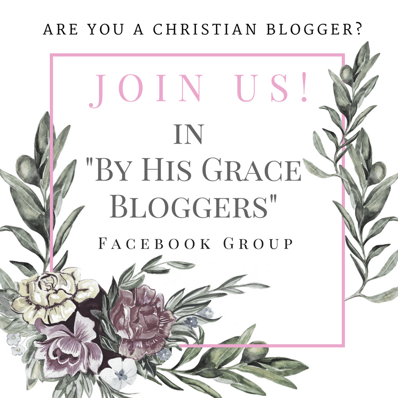 Are you a Christian Blogger? Join us in a private Facebook Group that will encourage you on your blogging journey.