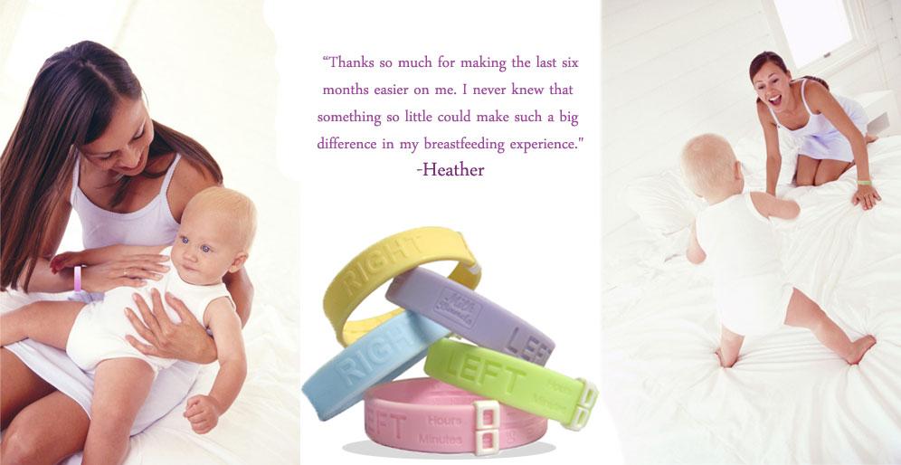 MilkBands Nursing Bracelet baby feeding reminder New