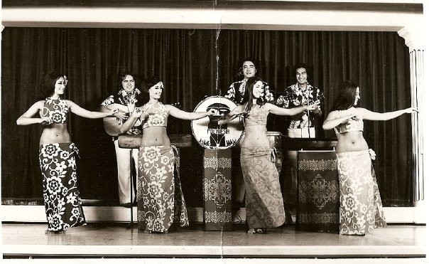 The first dancer on the left is Ioana's aunt and namesake, the second on the left is her mother, Laloifi.
