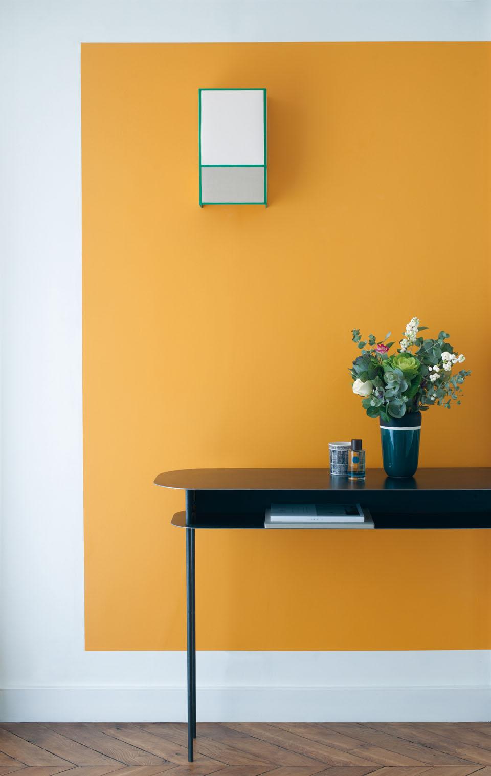 Peinture Blanc Orange Salon